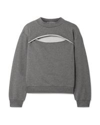 T by Alexander Wang Cutout French Cotton Terry Sweatshirt