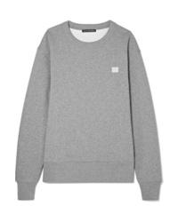 Acne Studios Fairview Face Appliqud Cotton Jersey Sweatshirt