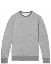Mr P Mlange Loopback Cotton Jersey Sweatshirt