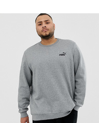 Puma Plus Essentials Sweatshirt With Small Logo In Grey
