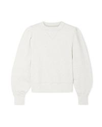 Isabel Marant Etoile Roald Gathered Cotton Blend Jersey Sweatshirt