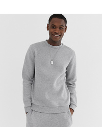 ASOS DESIGN Tall Sweatshirt In Grey Marl
