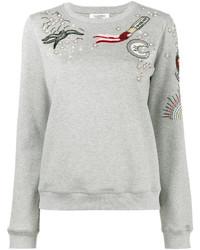 Valentino Tattoo Embroidered Sweatshirt