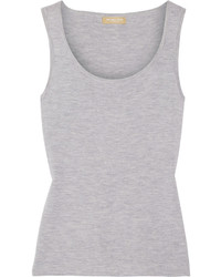 Michael Kors Michl Kors Collection Mlange Cashmere Tank Gray