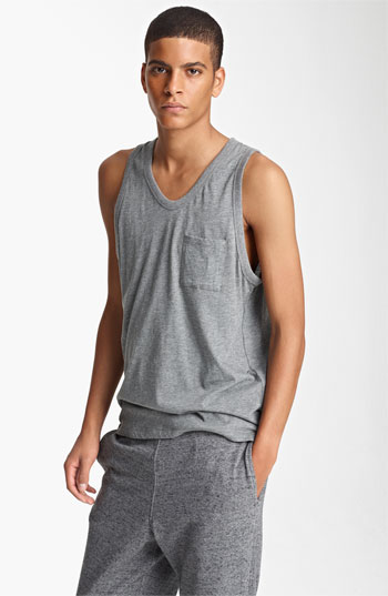 98851e0e406c ... T by Alexander Wang Tank Top Heather Grey Medium
