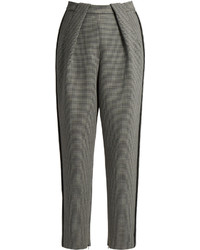 Balenciaga High Waisted Tapered Leg Hounds Tooth Trousers