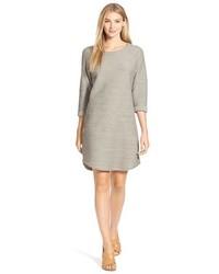 Grey Textured Shift Dress