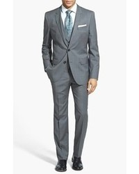 Hugo Hugegenius Trim Fit Three Piece Wool Suit