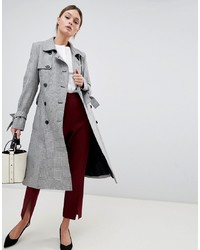 Helene Berman Double Breasted Houndstooth Trench