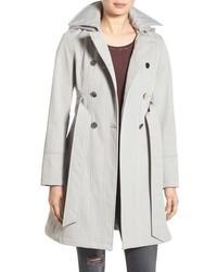 Hooded softshell trench coat medium 785560