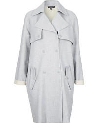 Topshop Tall Soft Bonded Trench Coat