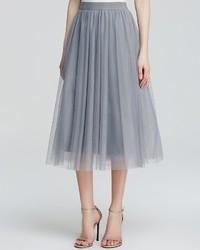 Grey Tulle Full Skirt