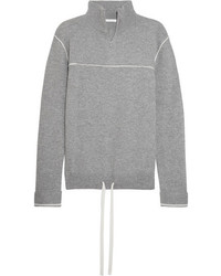 Chloé Cashmere Turtleneck Sweater Gray