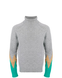 Paura Colour Block Detail Sweater