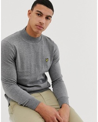 Lyle & Scott Turtle Neck Jumper In Grey