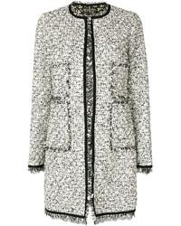 Lace trim tweed coat medium 6446554