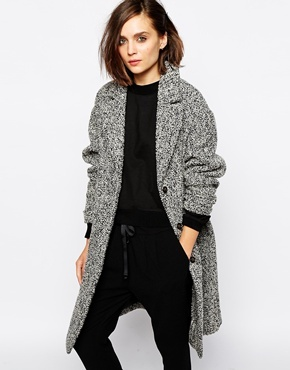 Selected Ninna Coat In Textured Tweed   Where to buy & how to wear