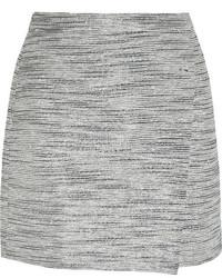 Grey Tweed Mini Skirt