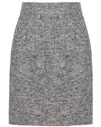 Grey Tweed Pencil Skirt