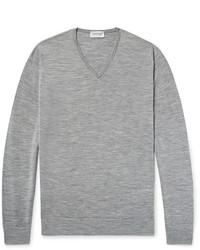 John Smedley Blenheim Mlange Merino Wool Sweater