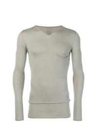 Rick Owens Fine Knit Fitted Sweater