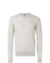 Lanvin Fine Knit V Neck Jumper