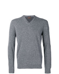 Altea Fine Knit V Neck Sweater