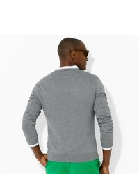 Ralph Lauren Long Sleeved V Neck Sweater