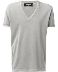 Grey v neck t shirt original 384030