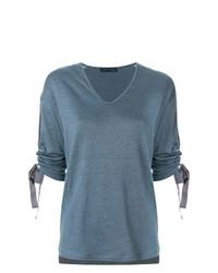 Fabiana Filippi Drawstring Sleeve T Shirt