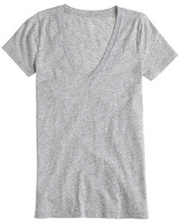 J.Crew Vintage Cotton V Neck T Shirt