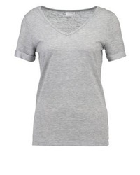 Vila Visumi Basic T Shirt Light Grey Melange