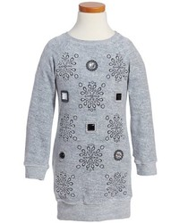 Little Marc Jacobs Girls Velvet Sweater Dress