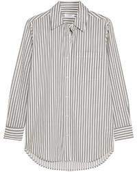 Daddy striped cotton poplin shirt white medium 431450