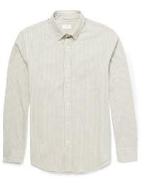 Slim fit bengal striped cotton twill shirt medium 188076