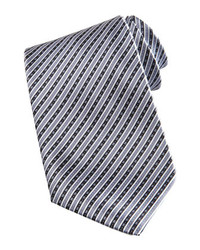 Grey Vertical Striped Tie