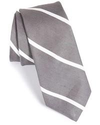 Todd Snyder White Label Stripe Silk Linen Tie