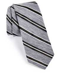 Wrk Stripe Linen Silk Tie