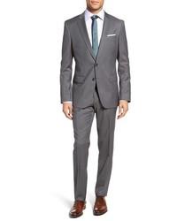 Hugegenius trim fit stripe wool suit medium 1044084