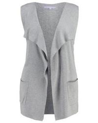 Anna Field Waistcoat Grey Melange