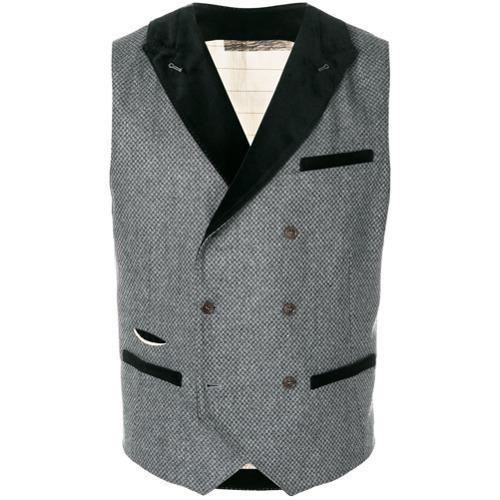 Al Duca D'Aosta 1902 Double Breasted Jacquard Waistcoat