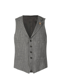 Lardini Lapel Button Waistcoat