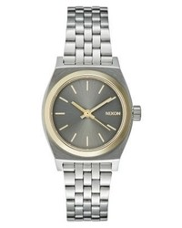 Nixon Time Teller Watch Silver Coloured