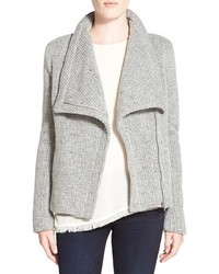 Grey Wool Biker Jacket