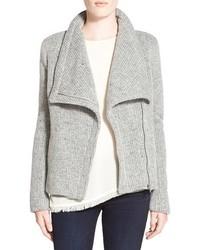 Cupcakes and cashmere rue drape collar knit jacket medium 400002