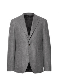 Salle Privée Anthracite Lloyd Mlange Wool Flannel Suit Jacket