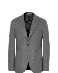 Salle Privée Grey Lloyd Slim Fit Mlange Wool Flannel Suit Jacket