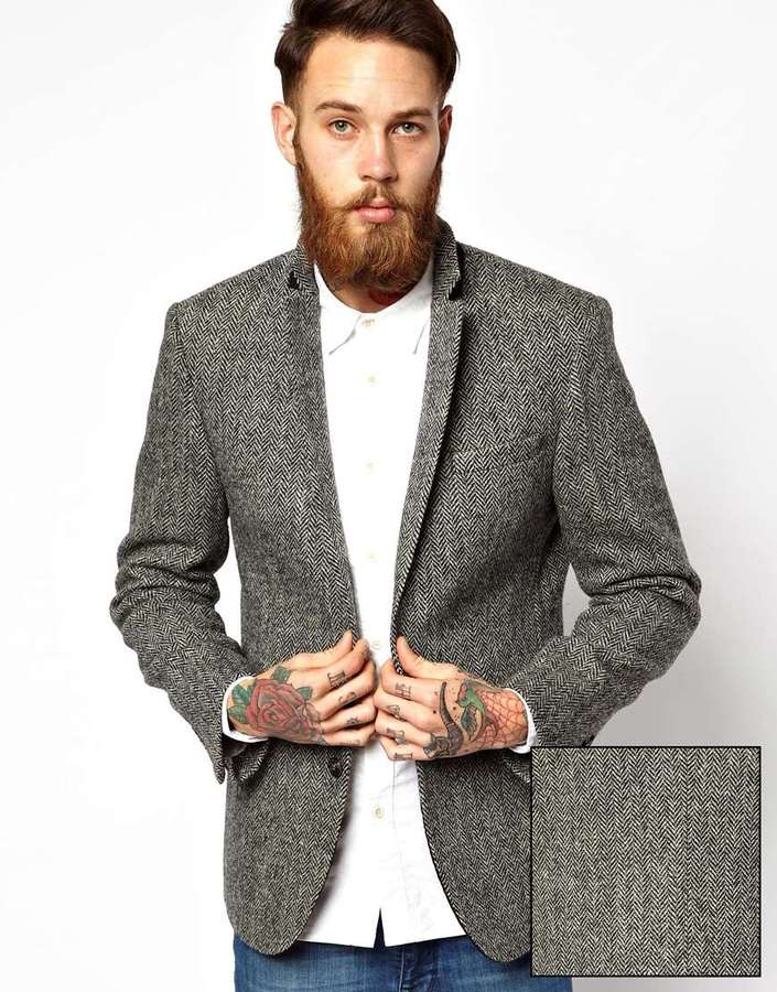 Asos Slim Fit Blazer In Harris Tweed   Where to buy & how to wear