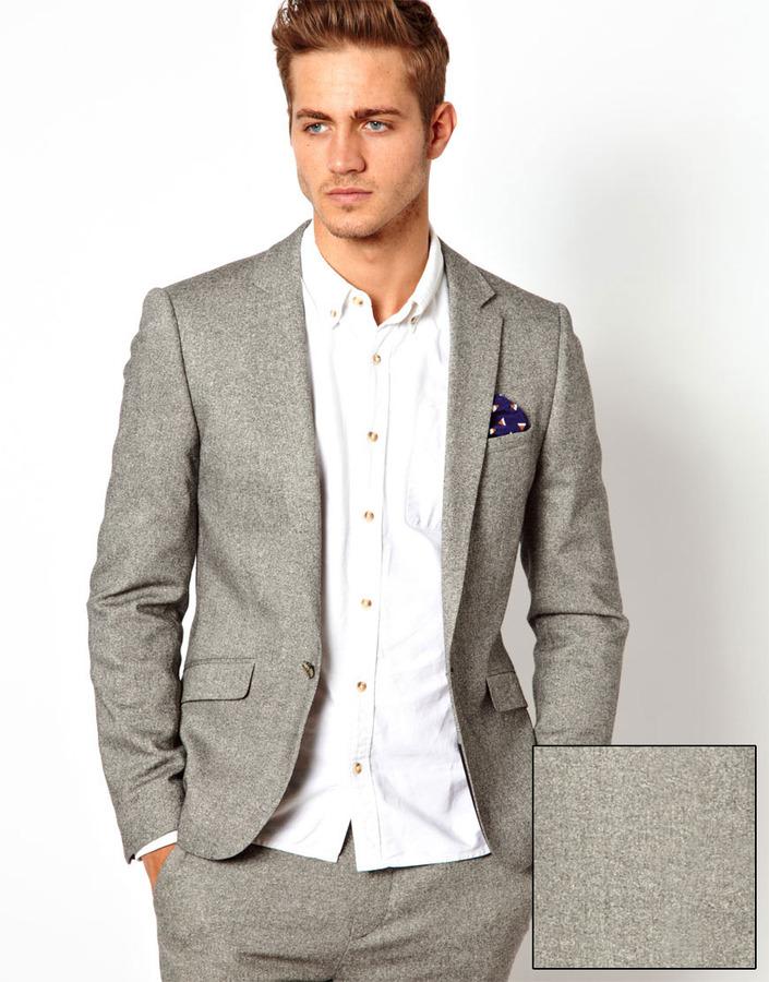 Asos Slim Fit Suit Jacket In Tweed | Where to buy & how to wear