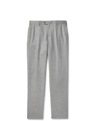 Loro Piana Slim Fit Mlange Cashmere Trousers